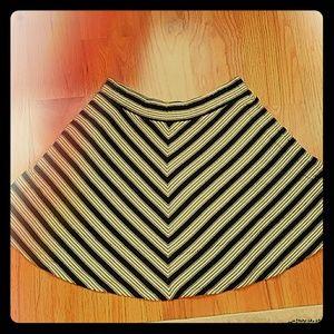 Black and white stripped skirt